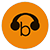 Browsealoud logo, featuring a 'b' and headphones.