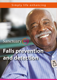 Front cover of the Sanctuary365 falls prevention and detection leaflet